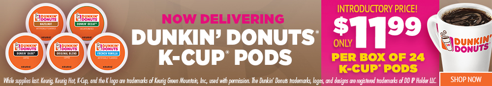 Introducing Dunkin' Donuts K-Cup Pods