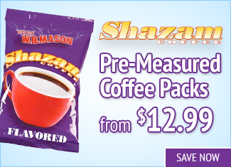Save on Shazam Pre-Measured Coffee Packs