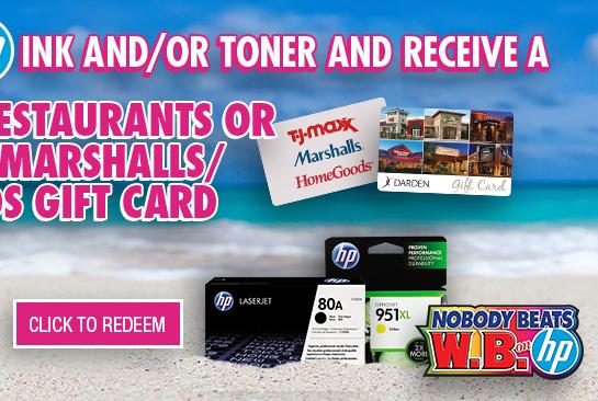 Redeem HP Ink/Toner Rebate
