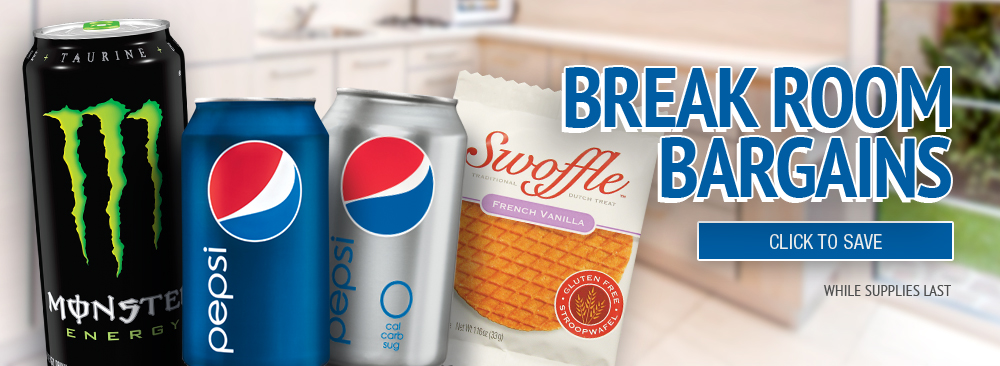 Save on Break Room Snacks & Beverages