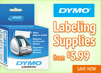 Save on Dymo Labeling Supplies