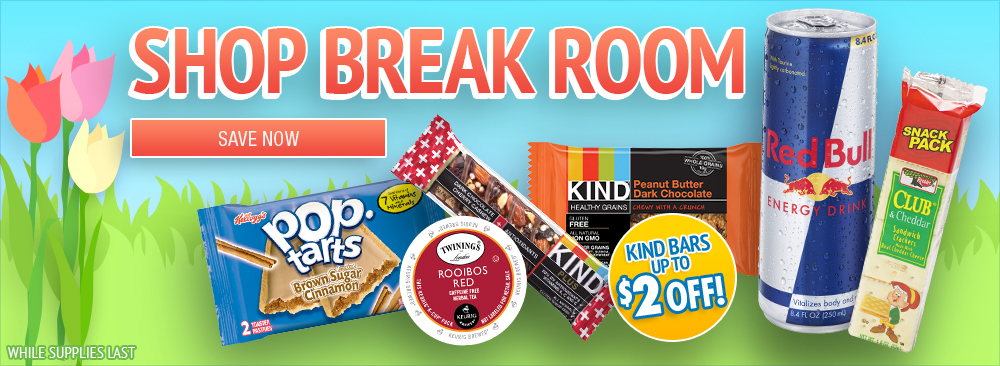Save on Break Room Snacks and Drinks