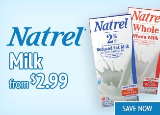 Save on Natrel Milk