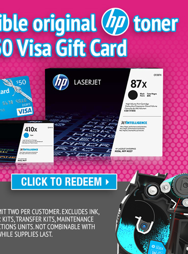 Redeem Eligible HP Toner Rebate