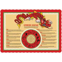 photograph about Printable Chinese Zodiac Placemat referred to as WB Mason - Look Achievement