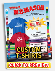 View Custom T-Shirts PDF Flyer