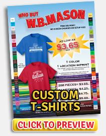 View Custom T-Shirts PDF Flyer