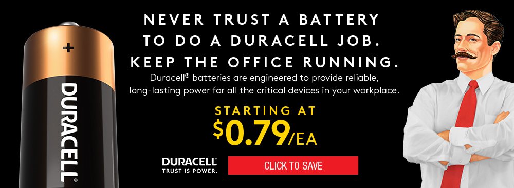 Click to save on Duracell Batteries