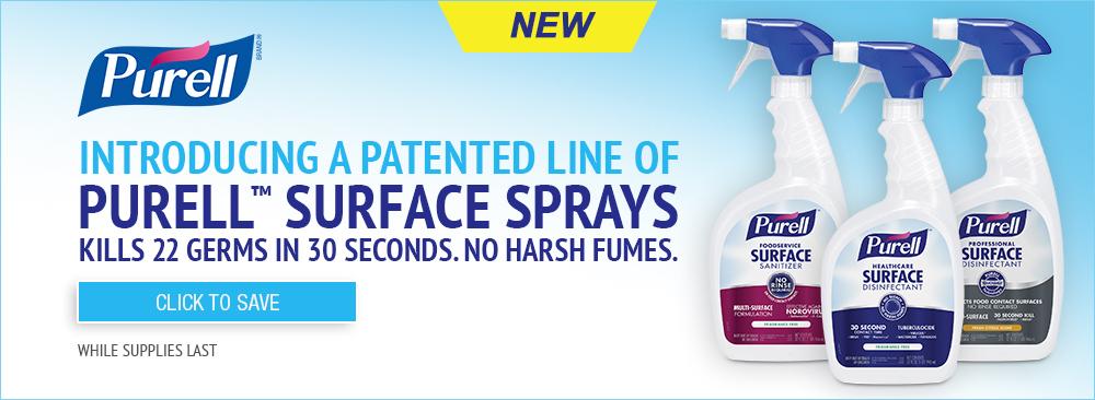 Introducing Purell Surface Sprays