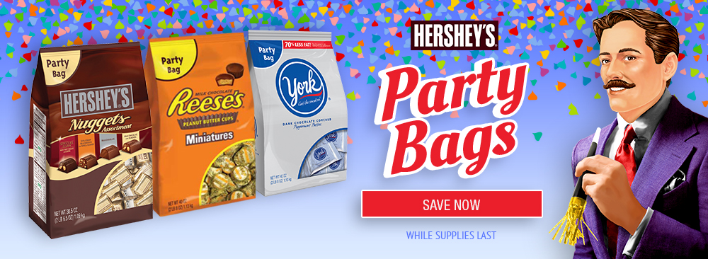 Save on Hershey's Party Bags