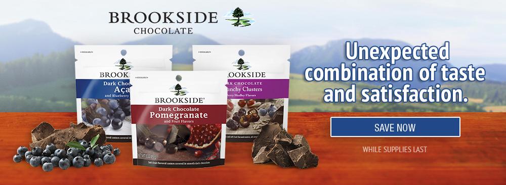 Save on Hershey's Brookside Chocolates