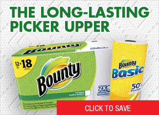 Save on Bounty Paper Towels