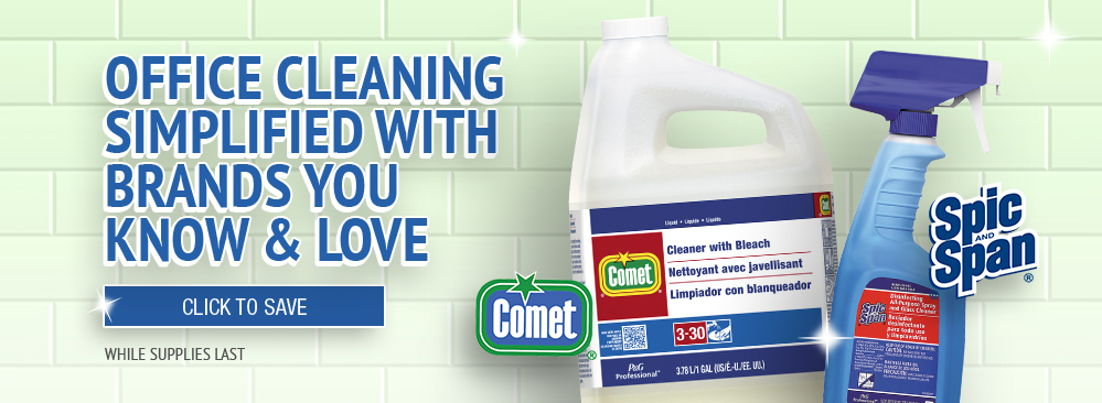 Save on Comet and Spic and Span Cleaner