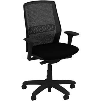 Allsteel Lyric Lt Work Chair Mesh Back 2d Adjustable Arms Black Black Wb Mason