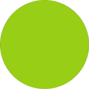 1 Fluorescent Yellow Tape Logic Inventory Circle Labels 500//Roll Days of The Week,MON