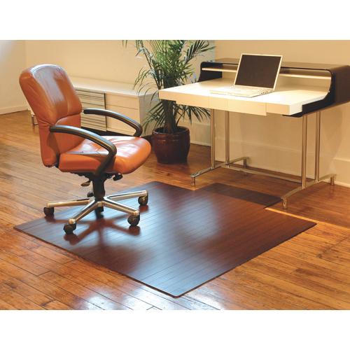 Anji Mountain Bamboo Chair Mat Rollup 55 X 57 Dark Cherry Wb Mason
