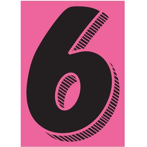 Window Sticker 6 7 1 2 Black Pink 12 Pk Wb Mason