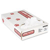 "Industrial Strength Low-Density Commercial Can Liners, 45 gal, 0.9 mil, 40"" x 46"", White, 100/Carton"