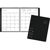 """Contemporary Monthly Planner, 6 7/8"""" x 8 3/4"""", Black Cover, 2021"""