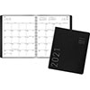 """Contemporary Monthly Planner, Premium Paper, 9"""" x 11"""", Black Cover, 2021"""