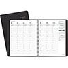 """Weekly Appointment Book Ruled, Hourly Appts, 6 7/8"""" x 8 3/4"""", Black, 2021"""
