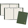 "Recycled Weekly/Monthly Classic Appointment Book, 8 1/4"" x 10 7/8"", Green, 2021"