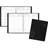"Contemporary Weekly/Monthly Planner, Column, 8 1/4"" x 10 7/8"", Black Cover, 2021"