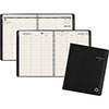 "Recycled Weekly/Monthly Classic Appointment Book, 6 7/8"" x 8"", Black, 2021"