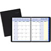 """QuickNotes Monthly Planner, 6 7/8"""" x 8 3/4"""", Black, 2022"""