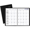 Monthly Planner, 8 x 11-7/8, Black, 2021-2022
