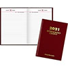 "Standard Diary Recycled Daily Reminder, Red, 5 3/4"" x 8 1/4"", 2021"