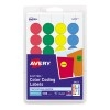"""Removable Color-Coding Labels, Removable Adhesive, Assorted Colors, 3/4"""" Diameter, 1008/PK"""