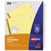 Big Tab™ Insertable Dividers, Buff Paper, Clear Tabs, 8-Tab Set