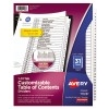 Customizable Table of Contents Dividers, Ready Index® Printable Section Titles, Preprinted 1-31 White Tabs
