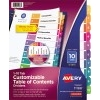 Customizable Table of Contents Dividers, Ready Index® Printable Section Titles, Preprinted 1-10 Multicolor Tabs, 6 ST/PK