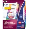 Customizable Table of Contents Dividers, Ready Index® Printable Section Titles, Preprinted 1-12 Multicolor Tabs, 6 ST/PK