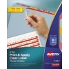 Print & Apply Clear Label Translucent Plastic Dividers, Index Maker® Easy Apply™ Printable Label Strip, 8 Multicolor Tabs