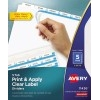 Print & Apply Clear Label Dividers, Index Maker® Easy Apply™ Printable Label Strip, 5 White Tabs, 5 ST/PK