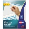 Print & Apply Clear Label Translucent Plastic Dividers, Index Maker® Easy Apply™ Printable Label Strip, 5 Frosted Tabs
