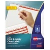 Print & Apply Clear Label Translucent Plastic Dividers, Index Maker® Easy Apply™ Printable Label Strip, 8 Frosted Tabs