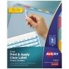 Print & Apply Clear Label Translucent Plastic Dividers, Index Maker® Easy Apply™ Printable Label Strip, 5 Multicolor Tabs