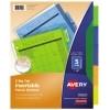 Big Tab™ Insertable Plastic Dividers, 5-Tab Set, Multicolor