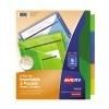 Big Tab™ Insertable Two-Pocket Plastic Dividers, 5-Tab Set, Multicolor