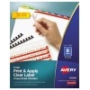 Print & Apply Clear Label Unpunched Dividers, Index Maker® Easy Apply™ Printable Label Strip, 8 Pastel Tabs, 25/BX