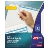 Print & Apply Clear Label Translucent Plastic Dividers, Index Maker® Easy Apply™ Printable Label Strip, 5 Frosted Tabs, 5 ST/PK