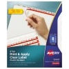 Print & Apply Clear Label Translucent Plastic Dividers, Index Maker® Easy Apply™ Printable Label Strip, 8 Frosted Tabs, 5 ST/PK