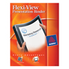 "Flexi-View® Binder, 1/2"" Round Rings, 100-Sheet Capacity, Black"