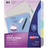 Big Tab™ Write & Erase Durable Plastic Dividers, 5-Tab Set, Multicolor