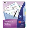 Write & Erase Durable Plastic Dividers with Pockets, 8-Tab Set, Multicolor