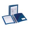 "Flexi-View® Binder, 1 1/2"" Round Rings, 275-Sheet Capacity, Navy"